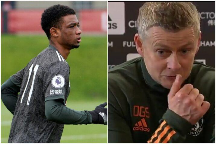 Solskjaer has revealed that  Ahmad Diallo in still injury